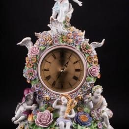 Фарфоровые часы Времена года, Sitzendorf, Германия, сер. 20 в