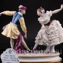 Фарвая статуэтка Артур Сен-Леон и Мари Ги-Стефан в балете Дух Долины, Volkstedt, до 1935 г.